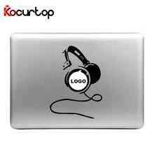 Модная наклейка для ноутбука, Виниловая наклейка для Apple Macbook Air Pro 13 11 15 дюймов, крутые наушники с короной, Забавный чехол для ноутбука Macbook