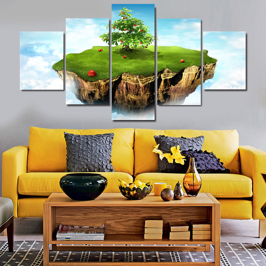 5 Piece Home Decor Oil Painting HD Print on Canvas Wall Art Picture for Living Room Christmas Gifts