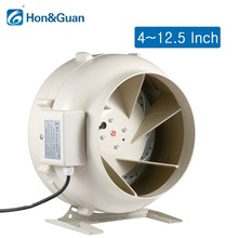 280W Round Inline Duct Centrifugal Fan Circular Exhaust Hydroponic Air Blower for Grow Room Home Ventilation; 4 to 12.5 Inch