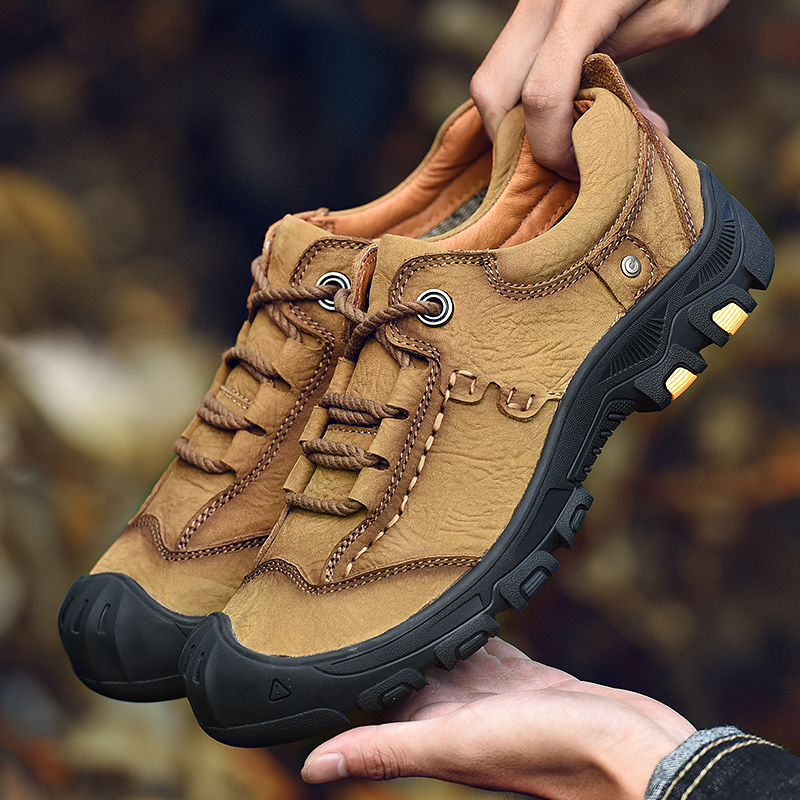 Flats Hiking-Shoes Garden-Head Manual-Sports-Shoes Outdoor Non-Slip Men Comfortable Help