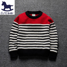 New Children's pullover Boys Sweaters Casual knit Sweaters O-Neck Children's clothing for boys Pullover for Baby Boys 2-8Years