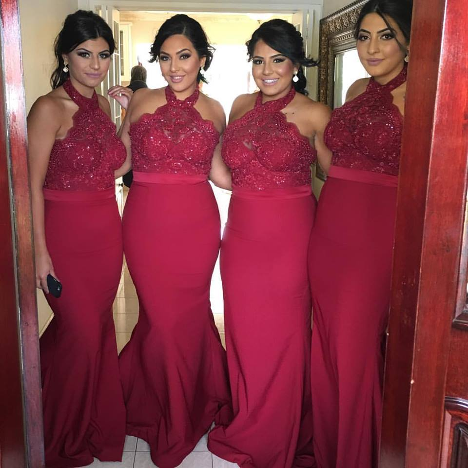 New Arrival 2017 Summer Beach Bohemian Burgundy Bridesmaid Dresses Mixed  Style Custom Made Bridesmaid Gowns-in Bridesmaid Dresses from Weddings    Events on ... 862c50cea814