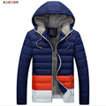 2016 Hooded Red Black Blue Big Size 3XL Plus Size White Down Cotton Warm Winter Jacket Men Jacket