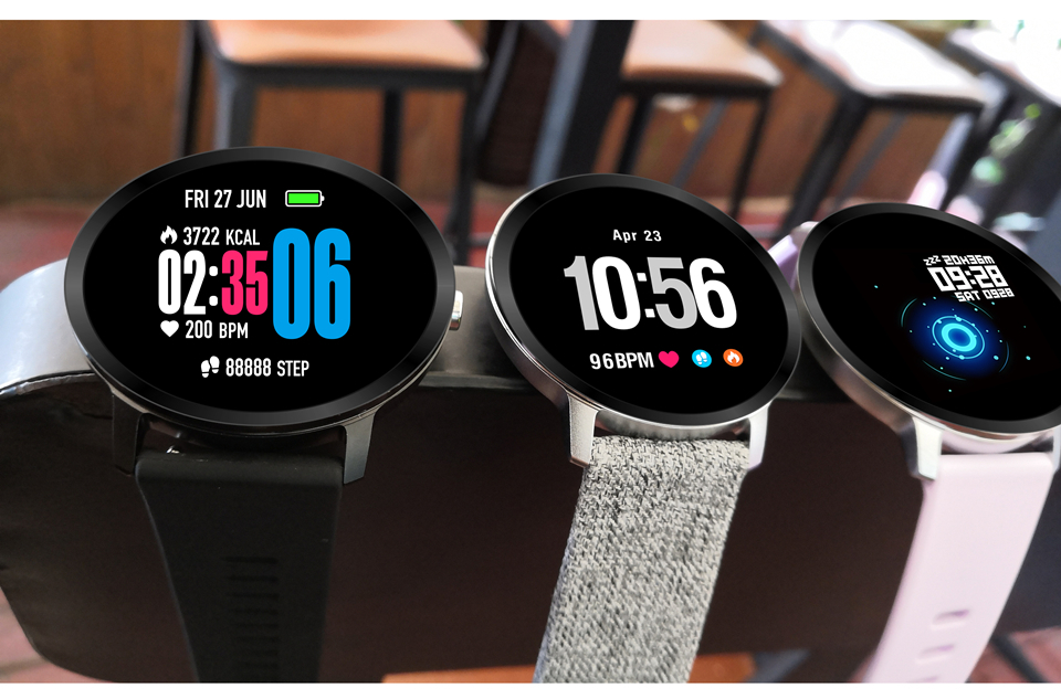 Sport watch smart tempered glass, waterproof, Android IOS Colors