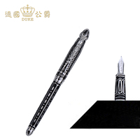 Luxury 14k Gold Pen Germany Duke Fountain Pen High end 0.5mm Nib Ink The Best Business Gift with Pen Case Free Shipping