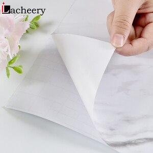 Image 5 - Современные Простые мраморные обои из ПВХ, водонепроницаемый настенный Декор для ванной комнаты, кухонные наклейки на столешницу, виниловая самоклеящаяся контактная бумага