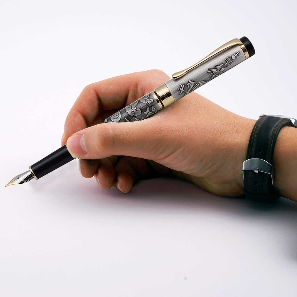 Kualitas Tinggi Mewah Jinhao 5000 Dragon Pena Vintage Tinta Pena untuk Menulis F 0.5MM NIB Kantor Dolma Kalem
