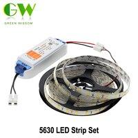 LED Strip 5630 5m DC12V 6 3A LED Driver Flexible LED Light Sets With Spring Connector