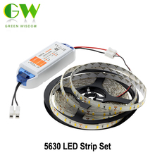 LED Strip 5630 Waterproof / Non Waterproof 5M 300LEDs Warm White/White/Cold White + DC12V 6.3A LED Driver