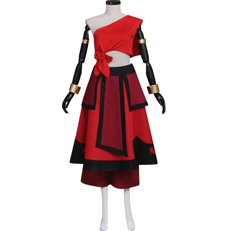 Katara Red Dress Cosplay Avatar:The Last Airbender Adult's ...
