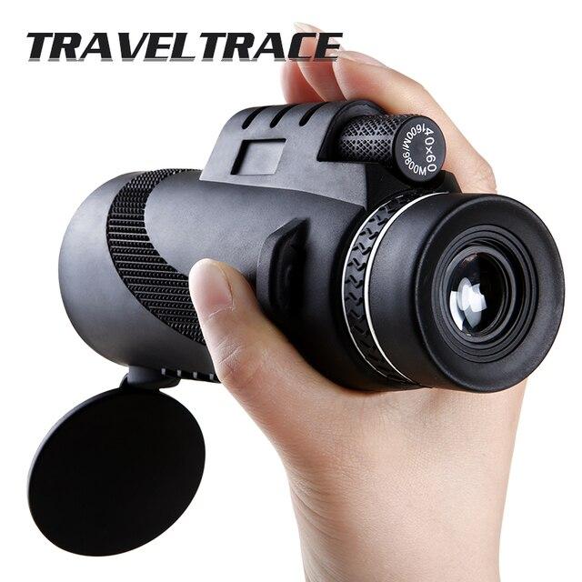 Krachtige 40X60 Monoculaire Voor Smartphone Zoom Hd Oculair Handheld Draagbare Telescoop Militaire Professionele Jacht ConcertMonoculaire/verrekijkers