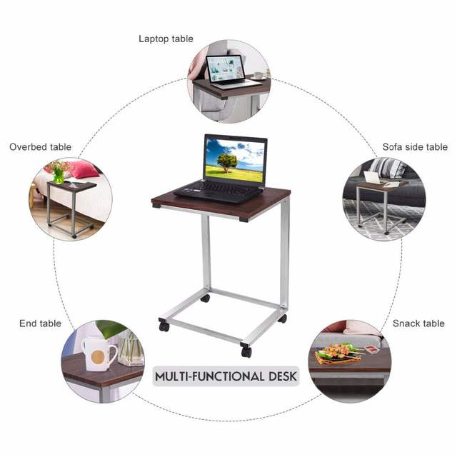 Superb Us 35 99 Giantex Coffee Tray Sofa Side End Table Modern Lap Stand Tv Snack Ottoman Couch Room Rolling Living Room Side Table Hw54185 On Aliexpress Unemploymentrelief Wooden Chair Designs For Living Room Unemploymentrelieforg