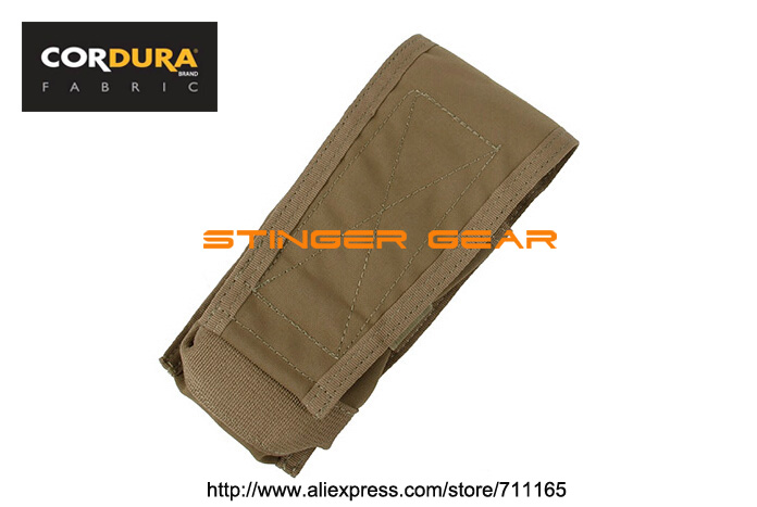 TMC MOLLE Double M4 Vertical Magazine Pouch Coyote Brown MOLLE Mag Pouch+Free shipping(SKU12050814)