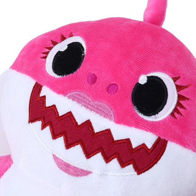 Cartoon Sharks soft Dolls Toys for Girl Children Baby Animal Kid Toys Cute Gift Elastic Environmentally PU brinquedos 5