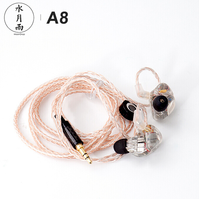 MoonDrop A8 Knowles 8 BA Unit Driver (Single-sided) HiFi AUDIO In-Ear Earphone Public Template IEM with Detachable Cable 5
