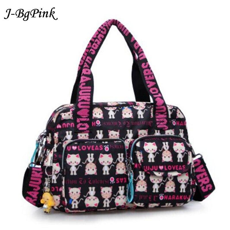 Fashion ladies bag Harajuku doll waterproof nylon handbag cat shoulder bag ladies handbag big bag Sac a main Bolsos Mujer+ Doll