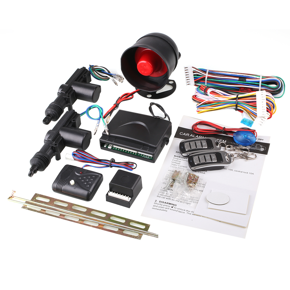 2 Porte Télécommande de Verrouillage Central Système De Verrouillage Kit et D'alarme de Sécurité de Voiture CHAUDE