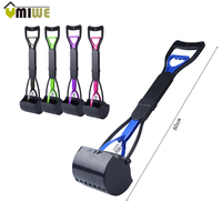 Hot Plastic Portable Pets Pooper Scooper Long Pick Up Cats Dogs Pick Up Toilet Waste Cleaning
