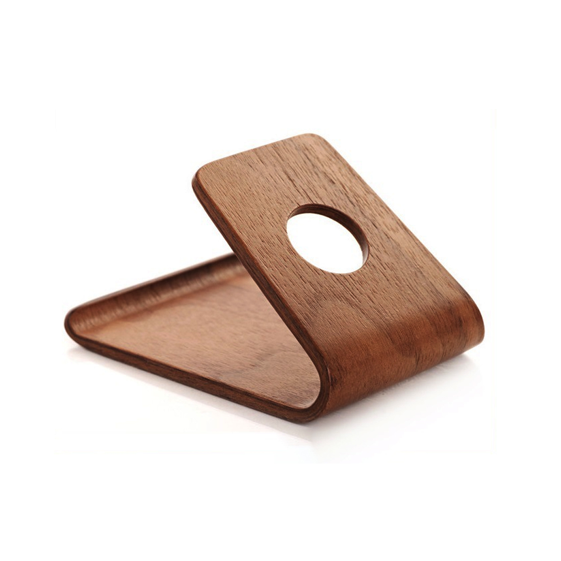 Etmakit Birch/Walnut Lightweight Slim Design Wooden Mobile Phone Stand Holder For IPhone X 8 7 Plus Samsung Galaxy S8 Xiaomi