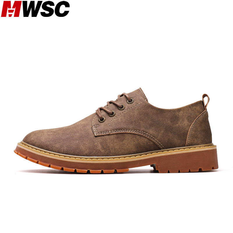 MWSC New Men Autumn Trending Working Boot Shoes British Style Male Vintage Retro Style Business Derby Shoes 2017 new autumn winter british retro men shoes zipper leather breathable sneaker fashion boots men casual shoes handmade
