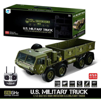 HG 1/12 RC US Military Truck Metal 8*8 Chasis Model 2.4G Radio Servo Motor P801 Without Light and Sound TH04720