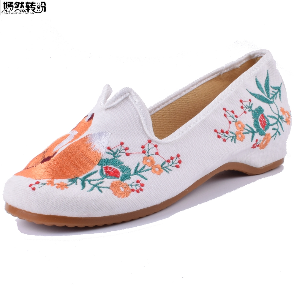 Chinese Women Embroidery Shoes Mixed Styles Ballerina Shoes Woman Casual Canvas Ethnic Old Beijing Cloth Shoes Zapatos Mujer pjur analyse me 100 мл расслабляющий анальный гель