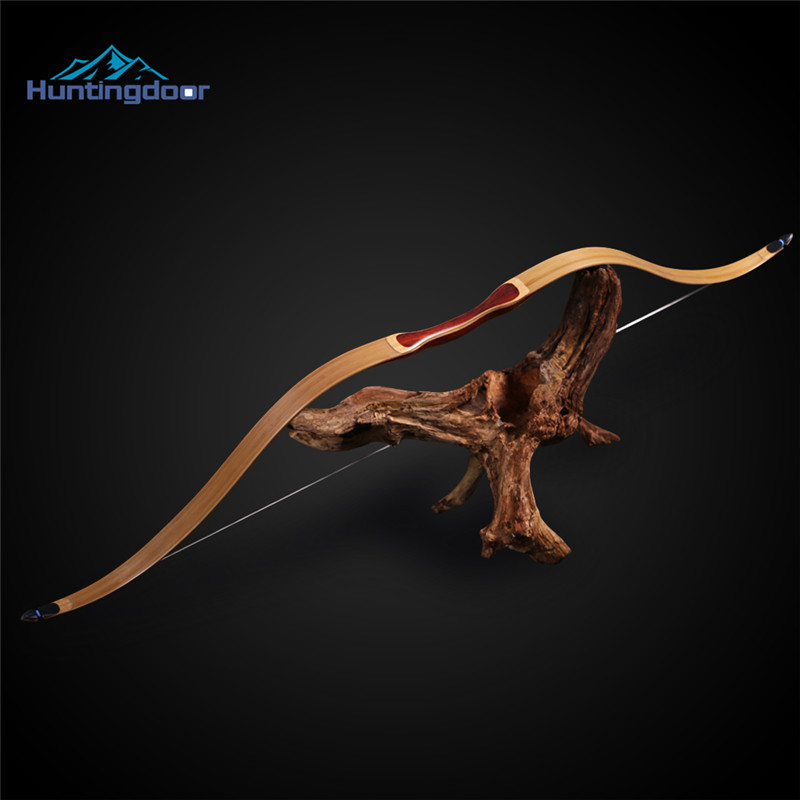 Recurve Bow Traditional Wooden Bow Fits Left and Right Hands Bow  40lbs 45lbs Outdoor Hunting Bow For Shooting Training mongolian recurve bow 30 40 lbs with wooden handle and rest for right left hand user archery hunting shooting