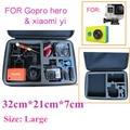 Go pro аксессуары для корпусов Большой размер коллекции box сумки для xiaomi yi GoPro hero 5 4 3 + 3 2 sj5000 ЕВА Портативный коробку с Коллекцией