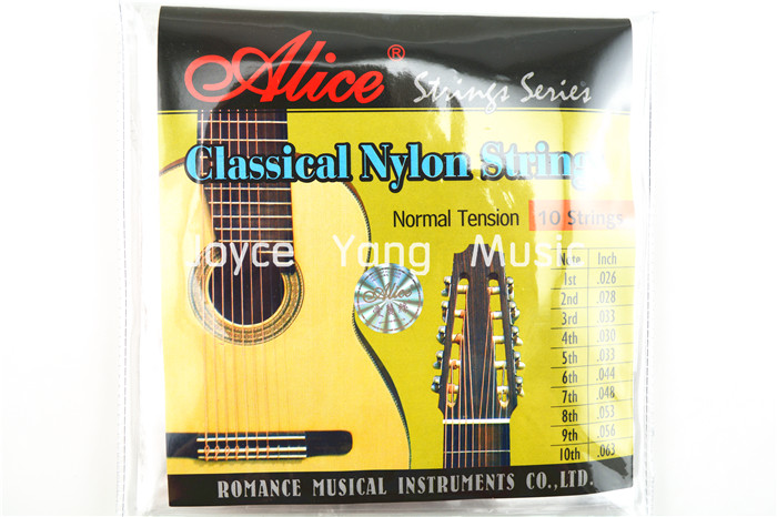 Alice AC1032C 10-String Classical Guitar Strings Clear Nylon Strings Copper Alloy Wound 1st-10th Strings Free Shipping