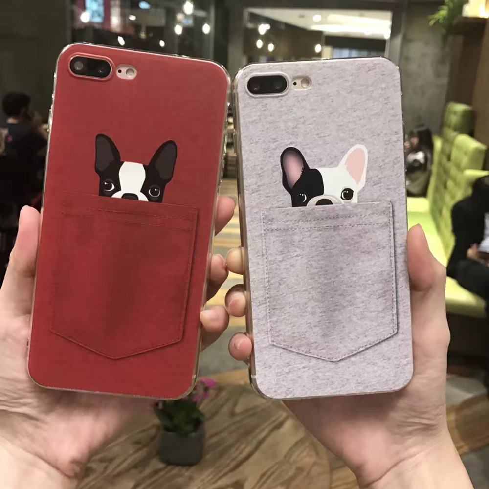 KL-Boutiques Fashion Soft TPU Phone Cases For iphone 6 Case Lovely Cartoon Animal Dog Cat Funny Cover For iphone 6S Coque Capa