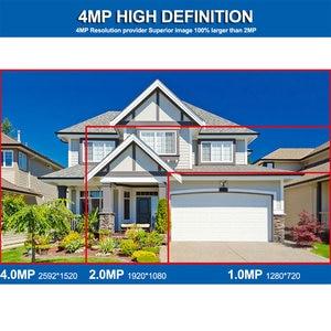 Image 2 - Smar 4CH 4MP POE طقم NVR H.265 نظام الأمن HDMI المعادن 4MP الأشعة تحت الحمراء في الهواء الطلق CCTV IP كاميرا P2P مجموعة مراقبة الفيديو 2 تيرا بايت HDD xyahe