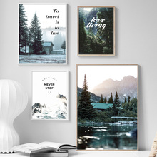 Forest Sea Mountain Wall Art Canvas Painting Nordic Posters And Prints Landscape Pictures For Living Room Decor