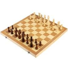 BESTOYARD складные деревянные магнитные шахматы настольная игра с кусочками с портативными милыми сумками для хранения для удобства переноски