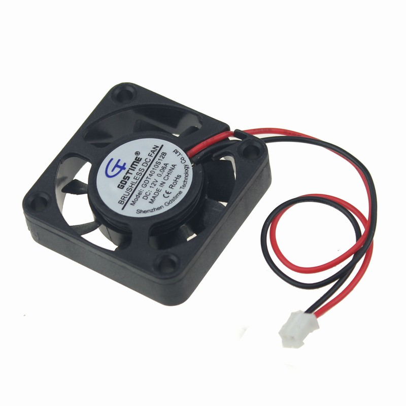 2pcs Gdstime 12V 2 Pin 40x40x10mm Small Micro Brushless Cooler DC Cooling Fan 40mm Silent gdstime 1 pcs cooling fan 40mm x 15mm 4cm 2 pin dc 4015 small brushless cooler fan 12v pc computer chip 40x40mm