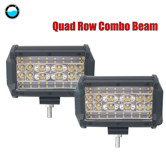 2018 New Quad Row 5inch LED Light Bar 5 inch Car LED Lamp Bulb for Motorcycle Headlight For Boats ATV UTV SUV Jeep Truck