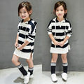 2017 spring new arrival Kids Clothes Girls Dress Long Sleeve Cotton Dress baby girl dresses kids long t shirt dress sweatshirt