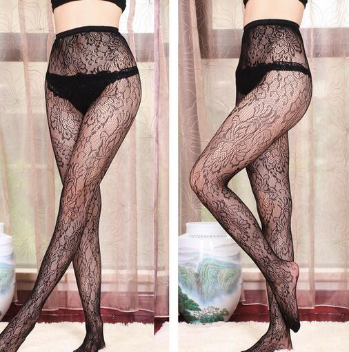 Buy 2018 Sexy Black Mesh Stockings Lingerie Elastic Transparent Tights Thigh Pantyhose Long Stocking Women Lady