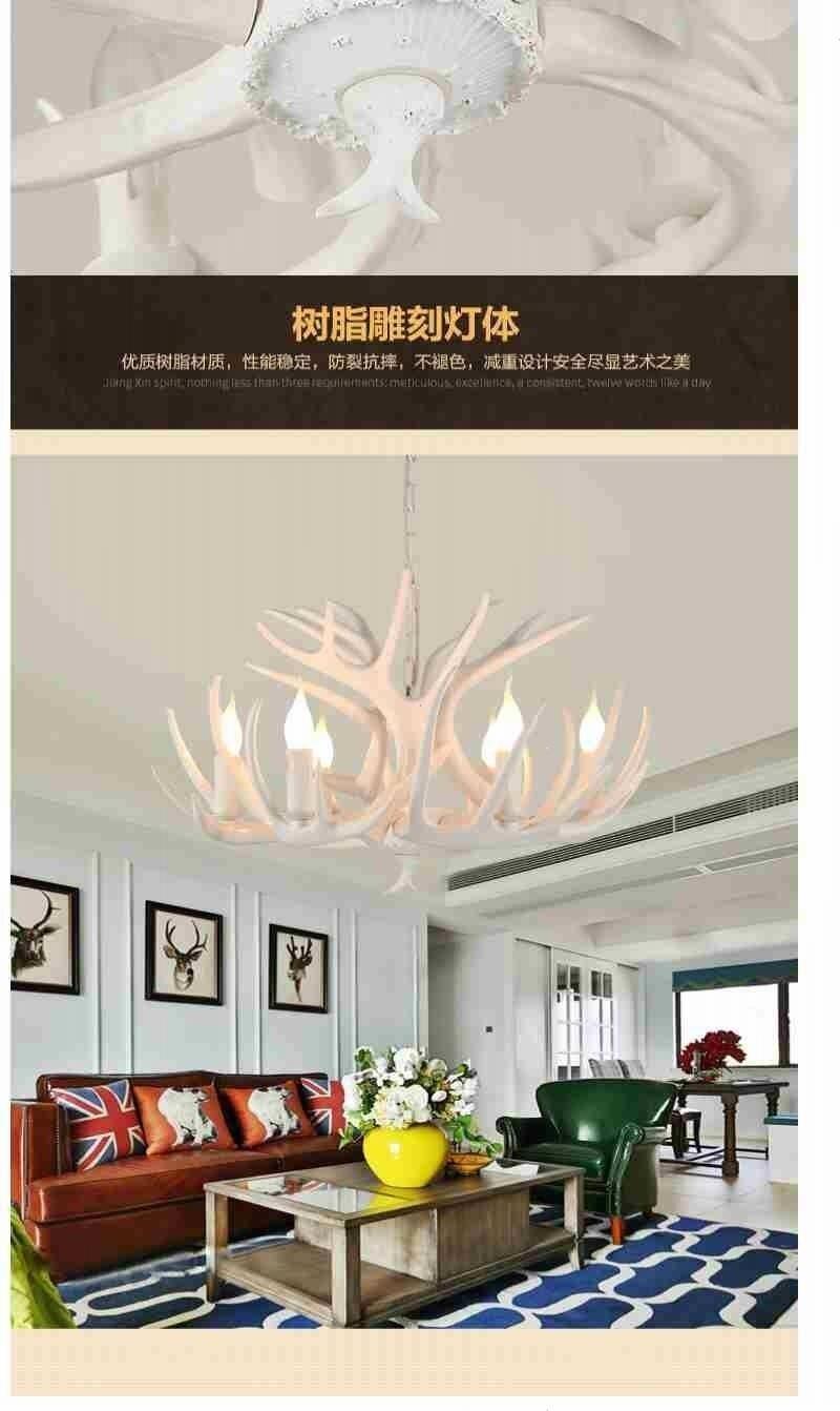 de estar quarto hotel antler led lustre loft vintage retro iluminação