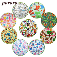 Baby Digital Print PUL Fabric TPU Coating Used For Baby Blanket Pillow Baby Diaper DIY Sold