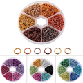 6 Colors Aluminum Wire Open Jump Rings, Mixed Color, 6x0.8mm; about 180pcs/color, 1080pcs/box