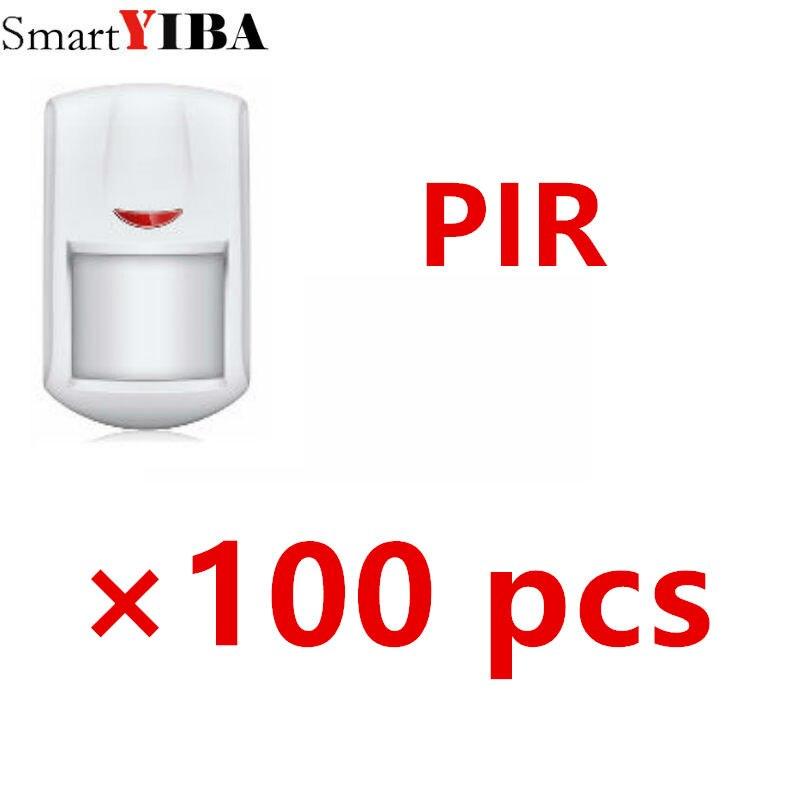SmartYIBA 100 шт. 433 МГц беспроводной PIR датчик Pet иммунитет Pet безвредный пассивный инфракрасный детектор для системы сигнализации