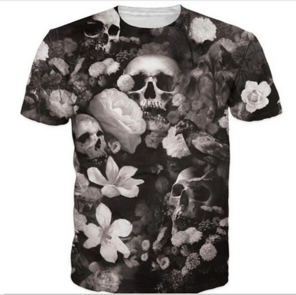 Unique Design Tops Tee Harajuku Summer 3D T shirts New Graphic Print Skull t-shirt 5XL Plus Size 3d tshirt For Men