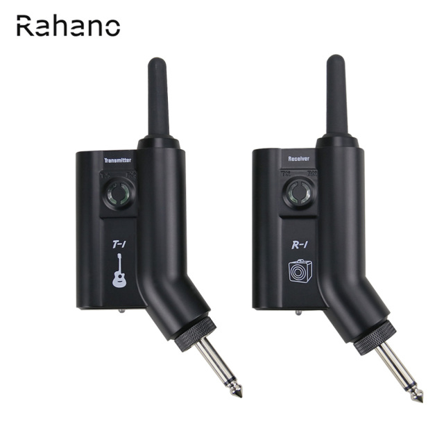 Rahano Rechargeable Wireless UHF Guitar System Digital Transmitter Receiver