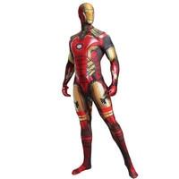 Avengers Endgame Iron Man 3D Print Cosplay Costumes Tony Stark Child Adult Zentai Jumpsuits Fancy Ball Halloween Party Bodysuit