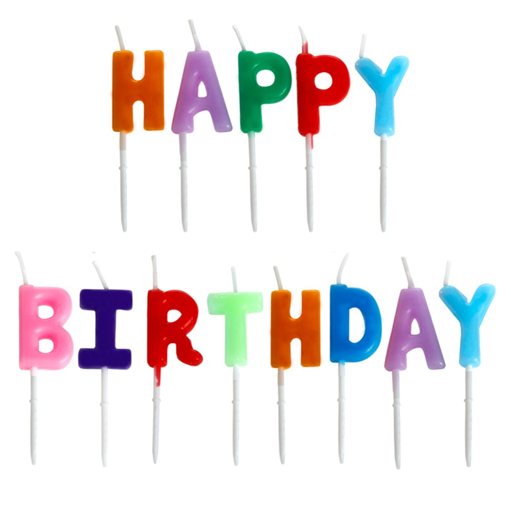 Birthday Candles With Letters