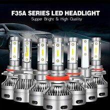 2PCS 12V high brightness LED car far and near headlight 60W / set DC9-32V voltage 6400LM H1 H4 H7 H11 9005 9012 light.