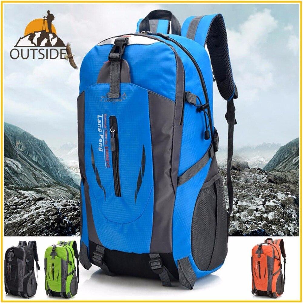 40 L hombres mujeres bolsa de escalada al aire libre bolsas de pesca impermeable viaje Trekking mochila senderismo Camping mochila táctico bolsas deportivas