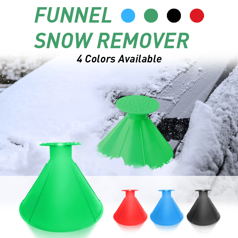 1x Car Windshield Magic Ice Scraper Tool Cone-Shaped Outdoor Funnel Remover Snow