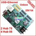 Onbon bx-5q, usb + ethernet порт, 2 hub75, 4 hub08, поддержка 256*65 пикселей, серый класса асинхронный контроллер, дешевый полный цвет управления