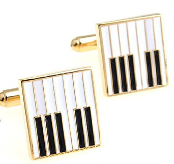 gold piano key cufflinks A large number of spot golf symbols gift Wedding Cufflinks cufflinks for mens
